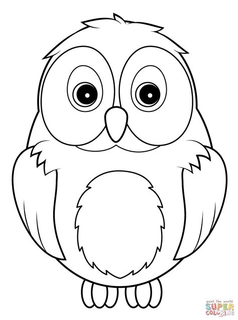 How To Draw A Cute Snowy Owl For Kids Google Search