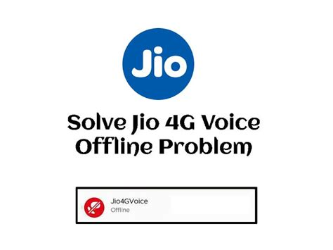 how to fix jio4gvoice offline problem jio4gvoice
