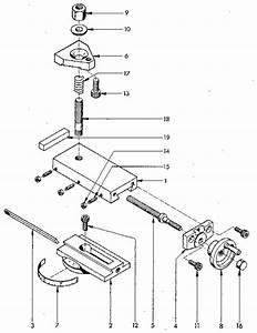 Compound Slide Diagram  U0026 Parts List For Model 549289000 Craftsman