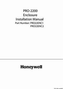 Honeywell Home Security System Pro22enc1 Users Manual