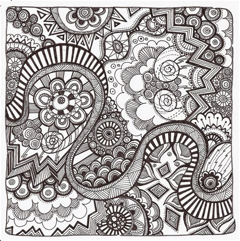 Coloring Zentangle by Free Printable Zentangle Coloring Pages For Adults