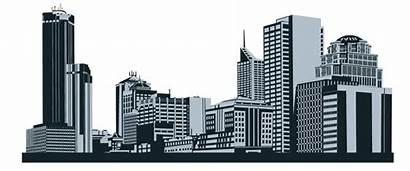 Outline Skyline Clipart Town