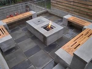 Cement, Block, Fire, Pit