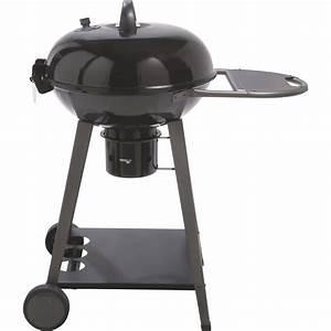 Barbecue Au Charbon De Bois NATERIAL Yutan Noir Et Gris