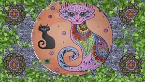 Coloreando mandala de gato, meditación YouTube