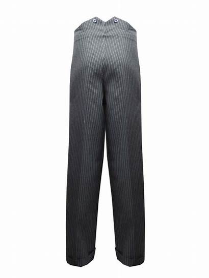 Trousers Fishtail 1940s Authentic Mens Grey