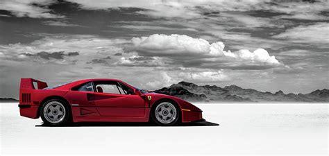 Synthwave, artwork, digital art, car, vehicle, ferrari, ferrari testarossa. Ferrari F40 Digital Art by Douglas Pittman