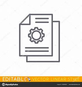 Technical Documentation Line Icon  Guide Or Manual