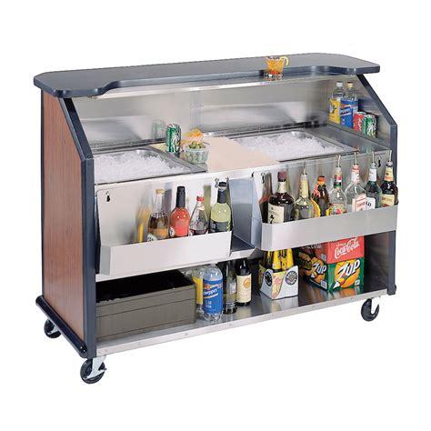Portable Bar by Lakeside 886 Vcher 63 5 Quot Portable Bar W 2 40 Lb Bin