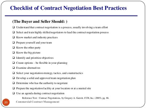 contract negotiation template performance evaluation template template business