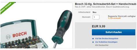Bosch Schrauber-bit-set + Schraubendreher 9,99