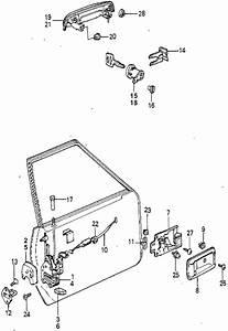 Honda Online Store   1980 Accord Front Door Locks Parts