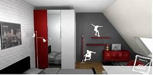 Deco Chambre Ado Garcon : ikea chambre ado garcon 6 indogate chambre gris et rouge ado lertloy com ~ Teatrodelosmanantiales.com Idées de Décoration
