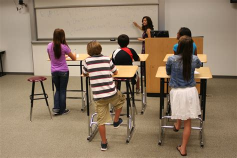 standing desk for kids a new twist on concentration standing while you work