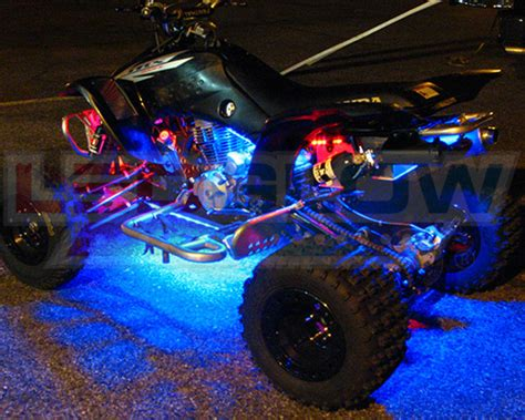 atv light kit ledglow 6pc flex million color atv led neon lighting