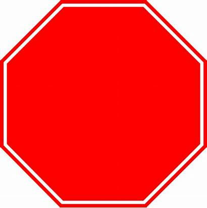 Stop Sign Clip Blank Clipart Outline Vector