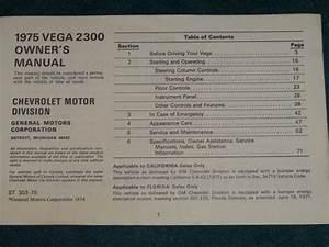 Find 1975 Chevrolet Vega Owner U0026 39 S Manual    Original Chevy