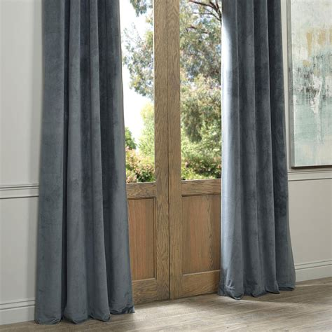 120 Inch Grommet Blackout Curtains by Signature Grommet Grey 120 Inch Blackout Curtain Half