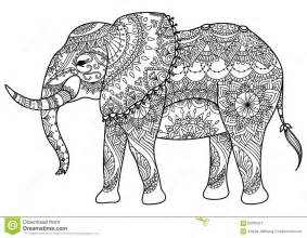 elephant mandala coloring pages coloring pages - Coloring Page Elephant Design