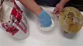 Mold making/ How I make plaster of paris - YouTube