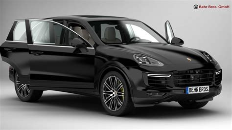 Porsche Cayenne Turbo S 2018 3d Model Max Obj 3ds Fbx