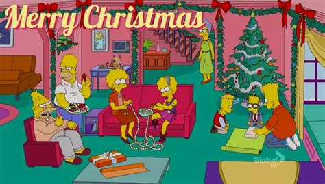 simpsons christmas cards