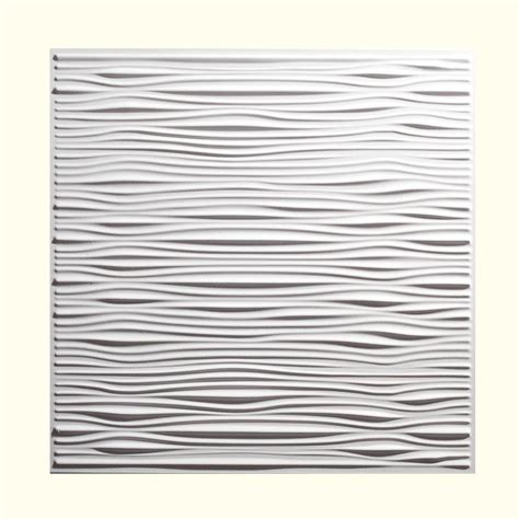 Genesis Drifts Ceiling Tile by Genesis 2 Ft X 2 Ft Drifts White Ceiling Tile 751 00