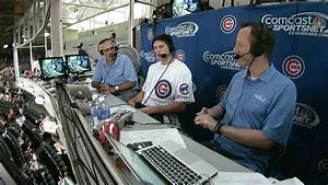SF@CHC: McDermott visits the Cubs' broadcast booth - YouTube