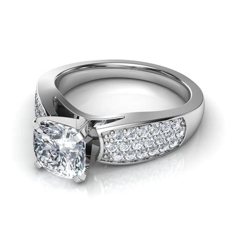 Wide Band Pavé Round Cut Diamond Engagement Ring In 14k. Diamond Wedding Rings. Lab Created Engagement Rings. Line Engagement Rings. Girl 2018 Engagement Rings. Baguette Diamond Wedding Rings. Joker Harley Wedding Rings. Meghan Markel's Engagement Rings. Romantic Engagement Engagement Rings