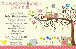 Baby Shower Invitations For Girl Template | Best Template ...