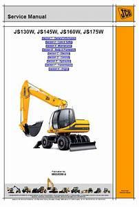 Jcb Js130w  Js145w  Js160w  Js175w Wheeled Excavator