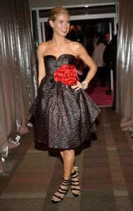 Heidi Klum Hair Dress Golden Globe Awards First