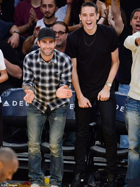 Adam Levine and G-Eazy cheer on LA Lakers | Daily Mail Online