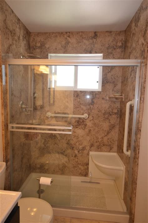 accessible bathroom design ideas walk in shower remodel in arroyo grande traditional