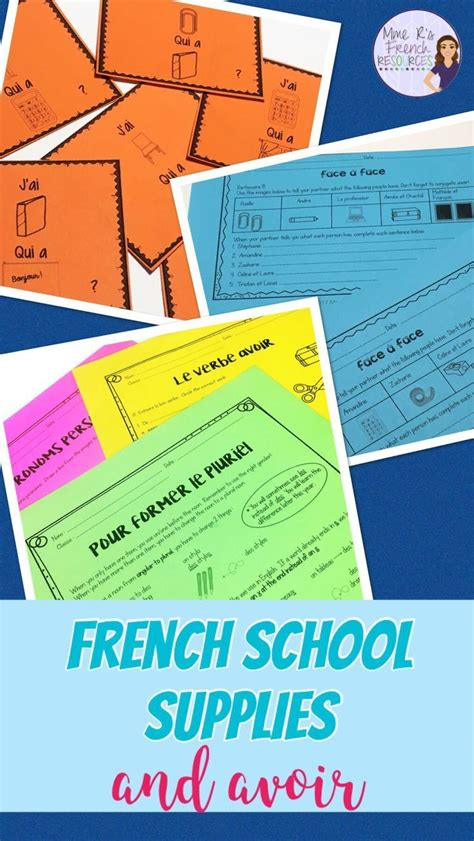 Practice common French school supplies vocabulary and ...