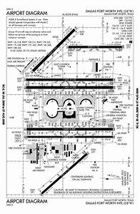 Dallas Fort Worth Kdfw Airport Runway Taxiway Diagram
