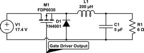 Power Electronics Buck Converter With Gate Driver
