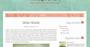 vintage diary free blog template ipietoon cute blog design With free html blog templates code