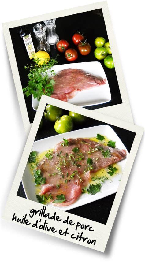 huile de citron cuisine grillade de porc huile d olive et citron christiane cuisine