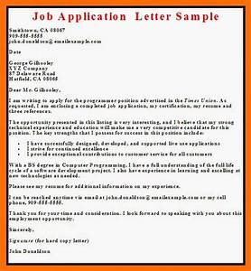 application letter writing application letter With what to write in a cover letter for job application