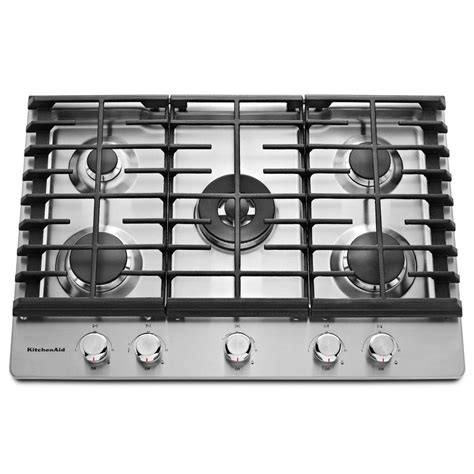 Five Burner Gas Cooktop kitchenaid 30 in gas cooktop in stainless steel with 5