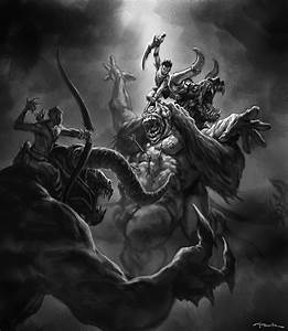 God of war-Minotaur vs Cyclops by NichtElf on DeviantArt