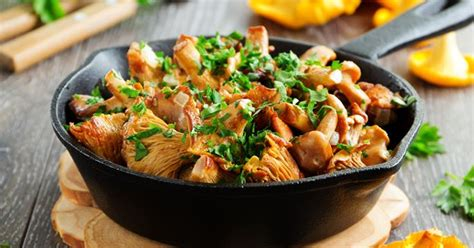 cuisine girolles recettes à base de girolles faciles rapides minceur pas
