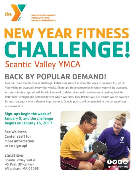Scantic Valley Ymca  New Year's Fitness Challenge! Ymca
