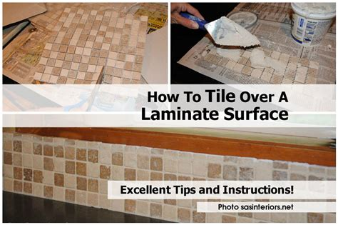 How To Tile Over A Laminate Surface