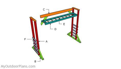 building monkey bars bar plans diy playground diy