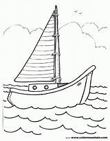 Boat Sailboat Coloring Pages Drawing Sailing Template Sheet Motor Sketch Coloing Templates Gmm Getdrawings Coloringhome Popular sketch template