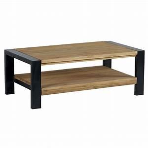 Table En Pin Massif : table basse en pin massif et m tal noir sur containers du ~ Teatrodelosmanantiales.com Idées de Décoration