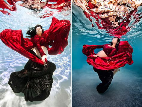 mothers   dive  unique underwater maternity