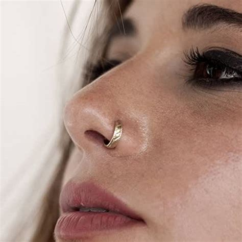 amazoncom unique nose ring gold plated nose hoop